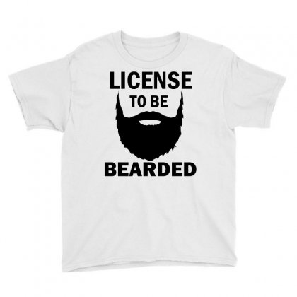 License To Be Bearded Youth Tee Designed By Cogentprint