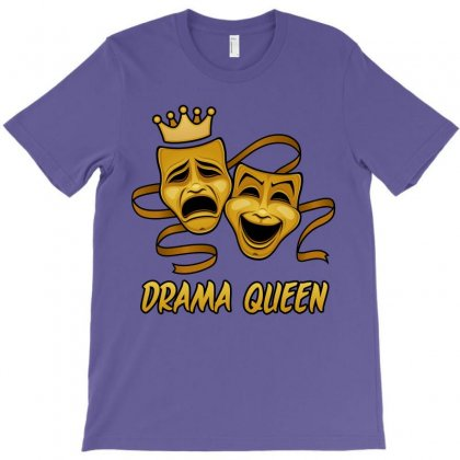 Drama Queen Comedy And Tragedy Gold Theater Masks T-shirt Designed By Fizzgig