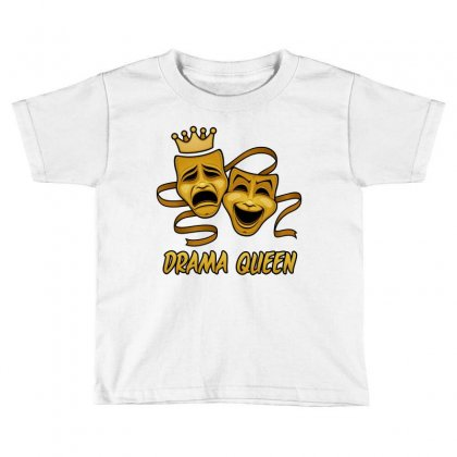 Drama Queen Comedy And Tragedy Gold Theater Masks Toddler T-shirt Designed By Fizzgig