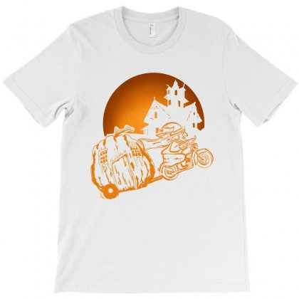 Witch Riding Motorcycle T-shirt Designed By Bananablossom
