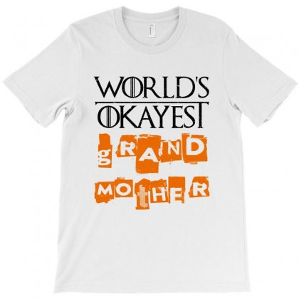 World Okayest Grand Mother T-shirt Designed By Blqs Apparel