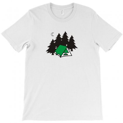 I Love Camping Funny Tshirt T-shirt Designed By Alex