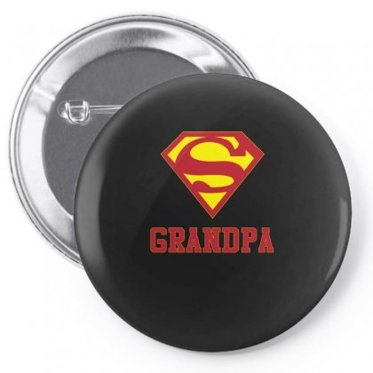 Super Grandpa Shirt Pin-back Button Designed By Hung