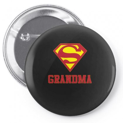 Super Grandma T Shirt Pin-back Button Designed By Hung