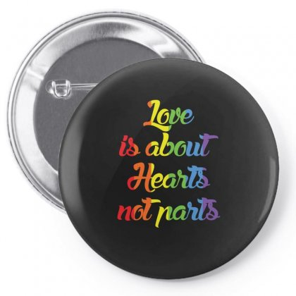 Love Is About Hearts Not Parts T Shirt Lesbian Shirt Funny Gifts Pin-back Button Designed By Hung