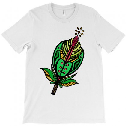Aesthetic Green Flower T-shirt Designed By Lorex-ads