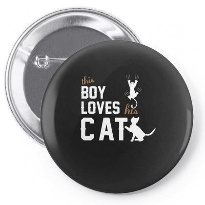 This Boy Loves His Catt Shirt Cat Lover T Shirt Cat T Shirt Pin-back Button Designed By Hung