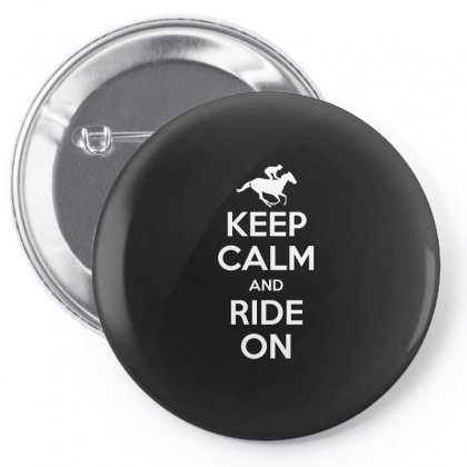 Keep Calm And Ride On Horse Riding Gift T Shirt Horse Lovers Shirt Pin-back Button Designed By Hung