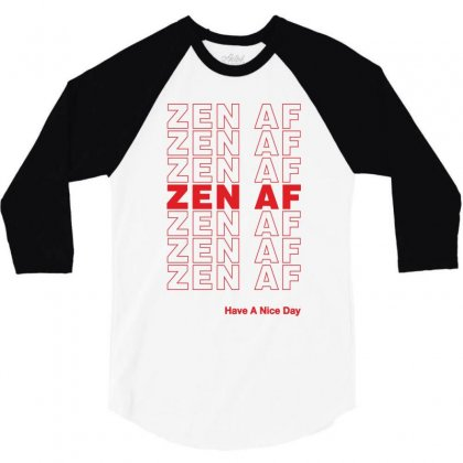 Zen Af 3/4 Sleeve Shirt Designed By Artees Artwork