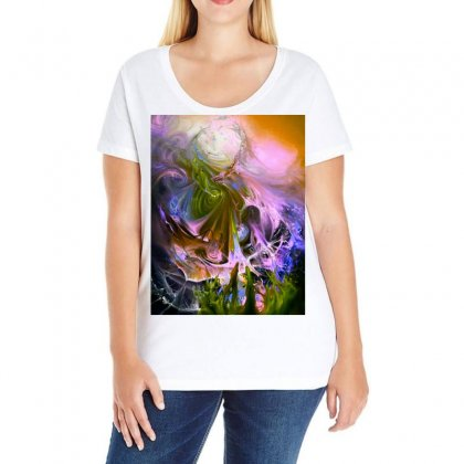 Flow Of Spin And Tides Ladies Curvy T-shirt Designed By Jonybravo2000