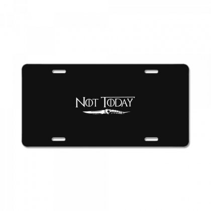 Cool Not Today Game Of Thrones Got Canvas Unisex T-shirt For Women Men License Plate