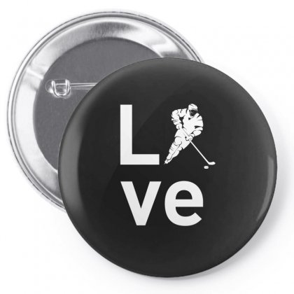 Hockey T Shirts Love Hockey Tee Pin-back Button Designed By Hung