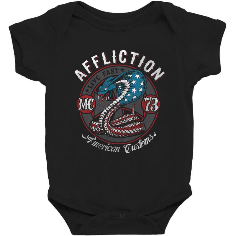 Affliction American Customs Baby Bodysuit  By Artistshot