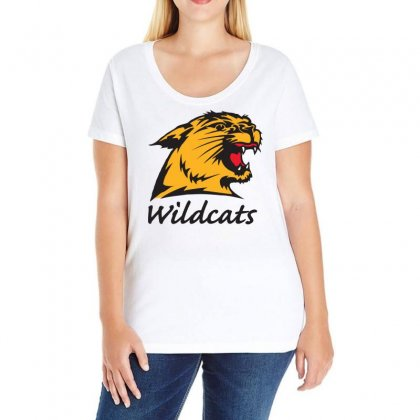 Wildcats Ladies Curvy T-shirt Designed By Omer Acar