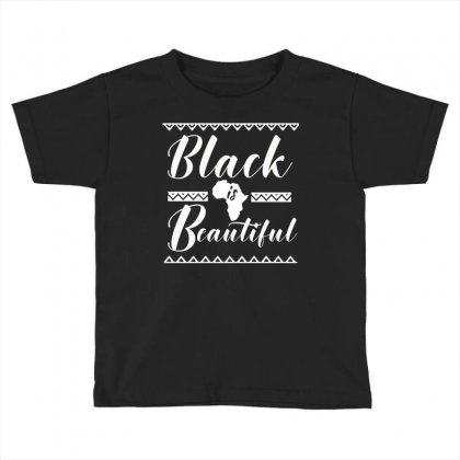 Africa Melanin Poppin Black Queen Toddler T-shirt Designed By Cogentprint