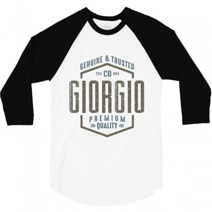 Is Your Name, Giorgio. This Shirt Is For You! 3/4 Sleeve Shirt Designed By Chris Ceconello