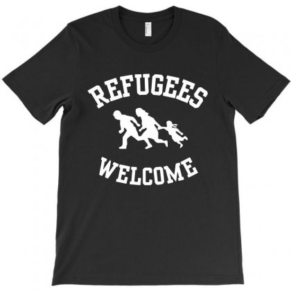 Refugees Welcome T-shirt Designed By Blqs Apparel