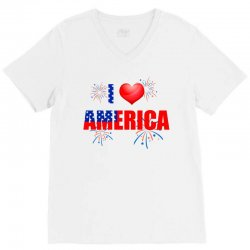 I love America independent V-Neck Tee | Artistshot