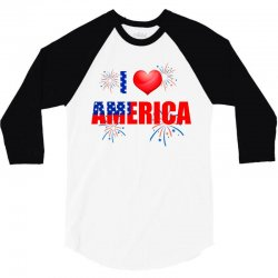 I love America independent 3/4 Sleeve Shirt | Artistshot