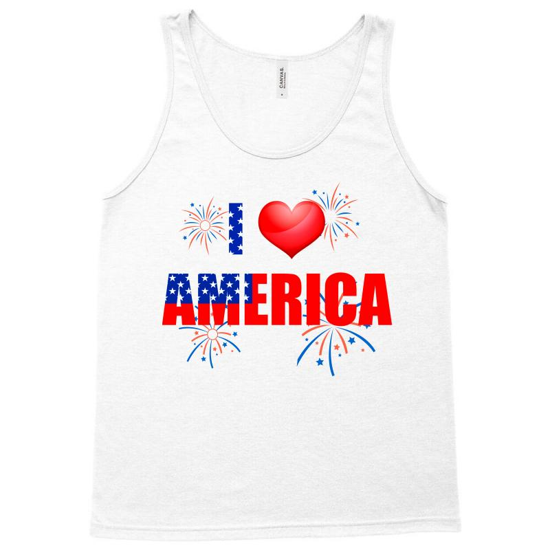 I Love America Independent Tank Top | Artistshot