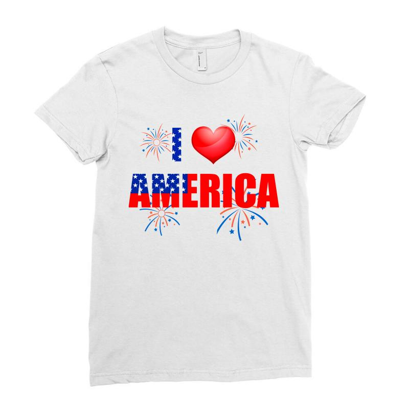 I Love America Independent Ladies Fitted T-shirt | Artistshot