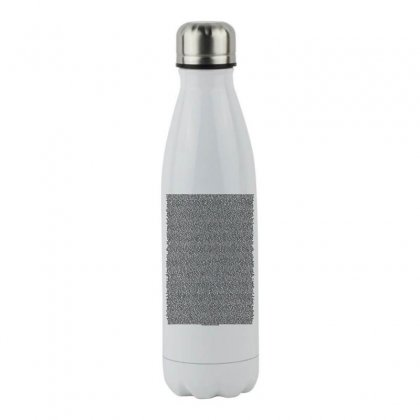 Bee Movie Script White Shirt Stainless Steel Water Bottle Designed By Vr46