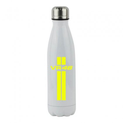 Valentino Rossi Stripes Stainless Steel Water Bottle Designed By Vr46