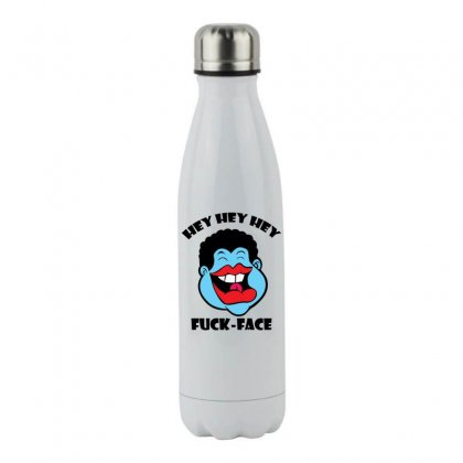 Hey Hey Hey Fuck Face Stainless Steel Water Bottle Designed By Specstore