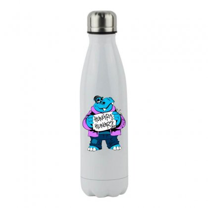 Hungry Hippo Stainless Steel Water Bottle Designed By Specstore