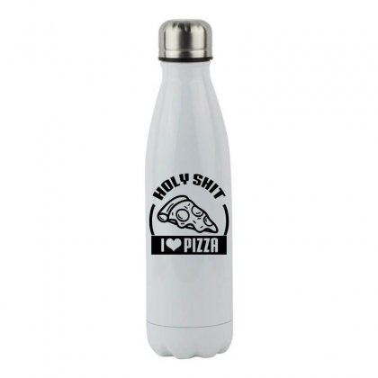 I Love Pizza Tee Stainless Steel Water Bottle Designed By Specstore