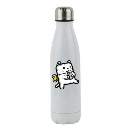 Robo Cat Stainless Steel Water Bottle Designed By Specstore