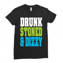 drunk stoned and dizzy Ladies Fitted T-Shirt | Artistshot