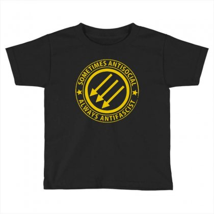 Antifascist Toddler T-shirt Designed By Blqs Apparel