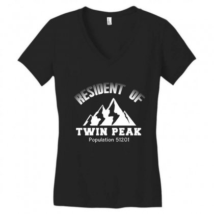 Resident Of Twin Peaks T Shirt Women's V-neck T-shirt Designed By Hung