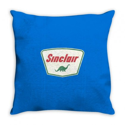 Vintage Sinclair Logo Throw Pillow Designed By Tasha