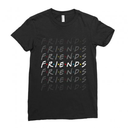 Friends Tv Show For Dark Ladies Fitted T-shirt Designed By Sengul