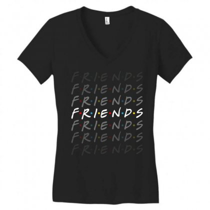 Friends Tv Show For Dark Women's V-neck T-shirt