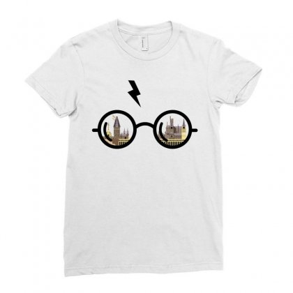 Harry Potter Glasses Ladies Fitted T-shirt Designed By Zeynepu
