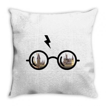 Harry Potter Glasses Throw Pillow Designed By Zeynepu