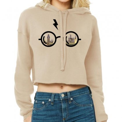 Harry Potter Glasses Cropped Hoodie Designed By Zeynepu
