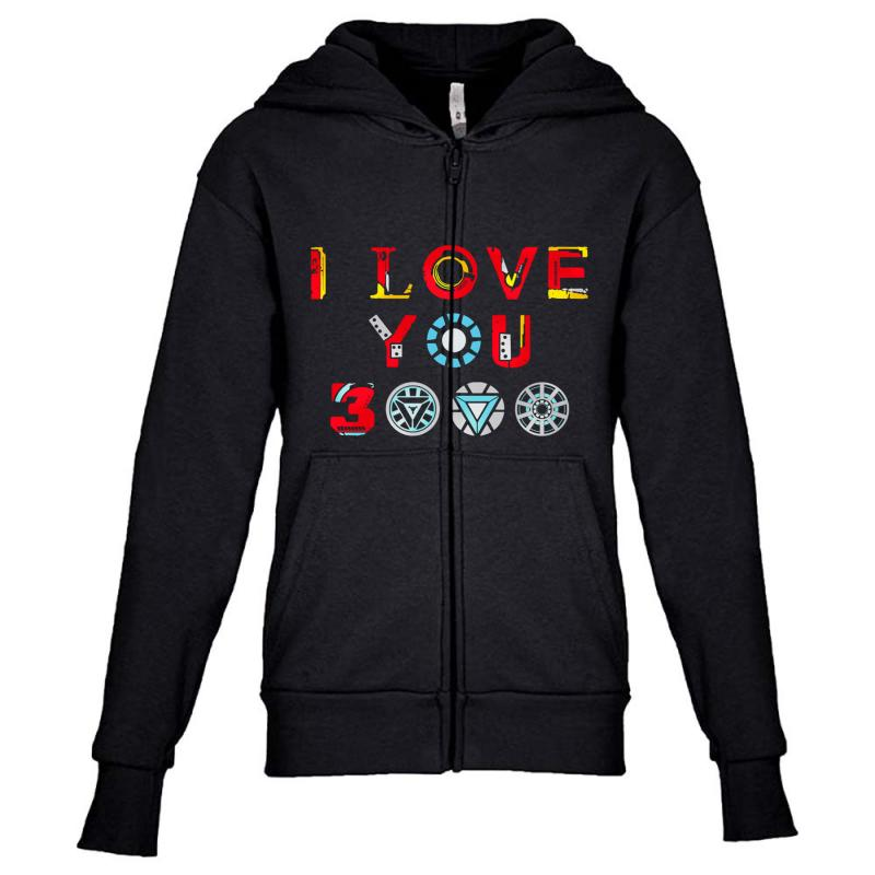 I Love You 3000 Youth Zipper Hoodie | Artistshot