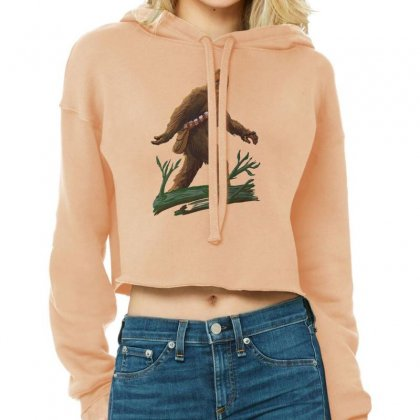 Bigfoot Cropped Hoodie Designed By Tonyhaddearts