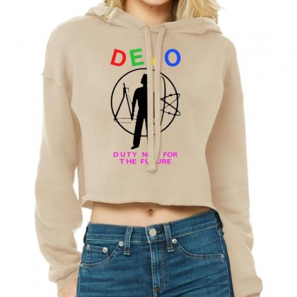 Devo   Duty Now For The Future Cropped Hoodie Designed By Tonyhaddearts