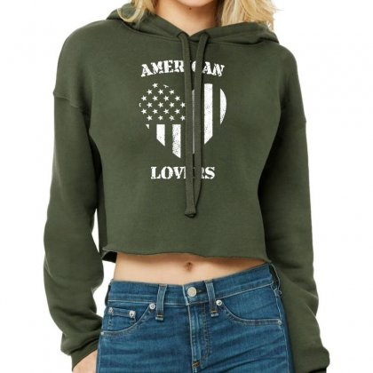 American Lovers Cropped Hoodie Designed By Tonyhaddearts