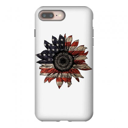 American Sunflower Iphone 8 Plus Case Designed By Sengul