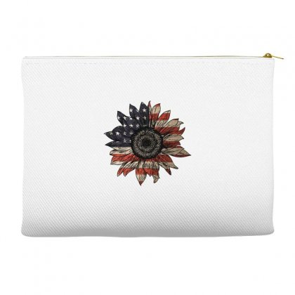 American Sunflower Accessory Pouches Designed By Sengul