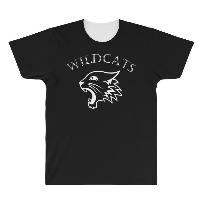 Wildcats Logo All Over Men's T-shirt | Artistshot