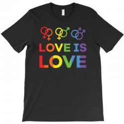 love is love shirt   love rainbow gay lesbian lgbt pride t shirt T-Shirt | Artistshot