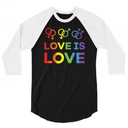 love is love shirt   love rainbow gay lesbian lgbt pride t shirt 3/4 Sleeve Shirt | Artistshot