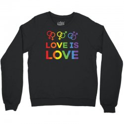 love is love shirt   love rainbow gay lesbian lgbt pride t shirt Crewneck Sweatshirt | Artistshot